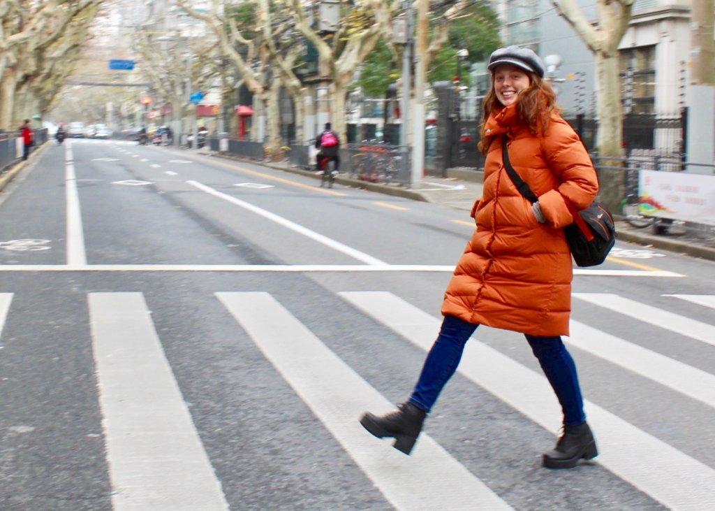 manteau d'hiver orange TPL