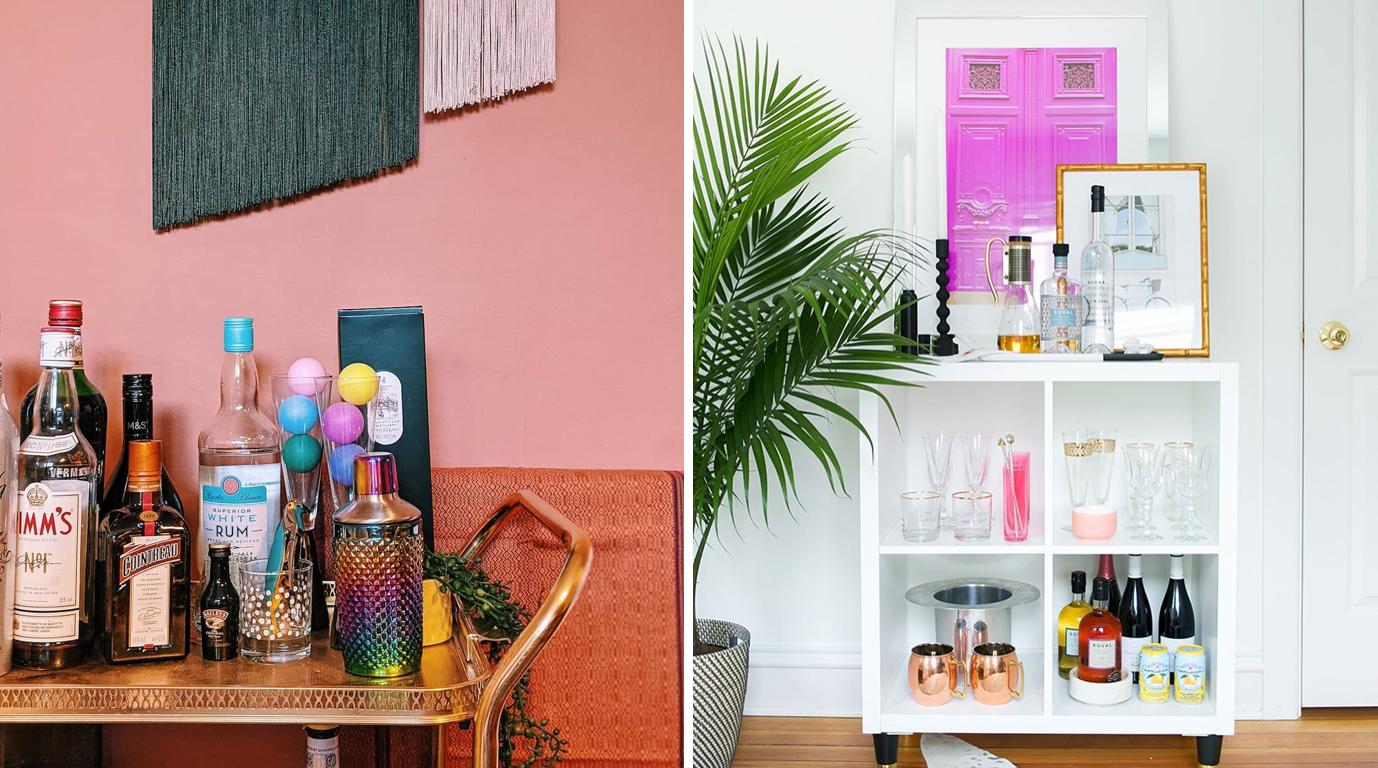 8 photos d'inspiration pour vous créer un coin-bar maison génial!